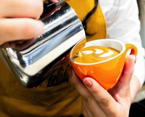 Taza modelo Fiori ideal para Arte Latte